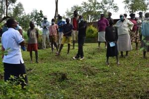 The Water Project: Shianda Community, Govet Lumbasi Spring -  Mask Wearing