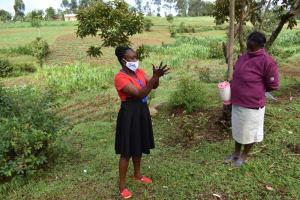 The Water Project: Shianda Community, Govet Lumbasi Spring -  Proper Handwashing Training
