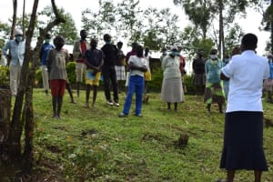 The Water Project: Shianda Community, Govet Lumbasi Spring -  Training