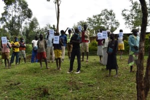 The Water Project: Shianda Community, Govet Lumbasi Spring -  Visual Aids Used At The Training