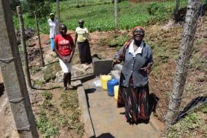 The Water Project: Shianda Community, Govet Lumbasi Spring -  Women Celebrating Water