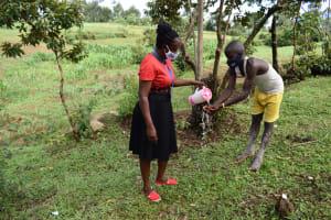 The Water Project: Shianda Community, Govet Lumbasi Spring -  Handwashing Training