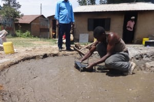 The Water Project: Mukambi Baptist Primary School -  Cementing Well Pad