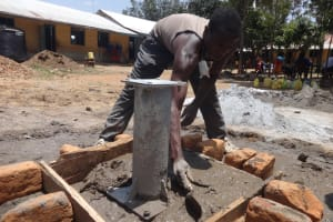 The Water Project: Mukambi Baptist Primary School -  Framing Well Pad Area
