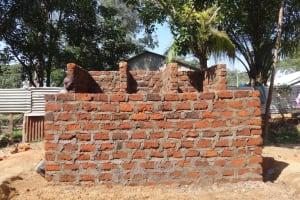The Water Project: Mukambi Baptist Primary School -  Latrine Bricks Done