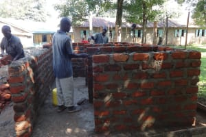 The Water Project: Mukambi Baptist Primary School -  Latrine Construction Progress