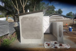 The Water Project: Mukambi Baptist Primary School -  Plastered Latrines