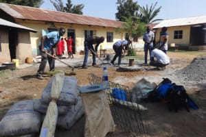 The Water Project: Mukambi Baptist Primary School -  Preparing Well Site