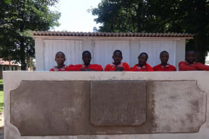 The Water Project: Mukambi Baptist Primary School -  Students At The Latrines