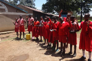 The Water Project: Mukambi Baptist Primary School -  Students At The Outdoor Training Session