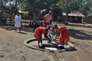 The Water Project: Mukambi Baptist Primary School -  Students At The Well