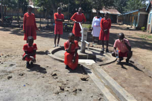 The Water Project: Mukambi Baptist Primary School -  Thumbs Up For The Well