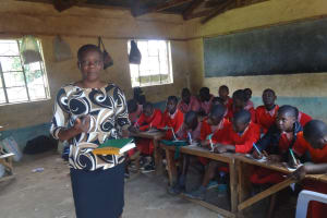 The Water Project: Mukambi Baptist Primary School -  Trainer Leads Hygiene And Sanitation Session