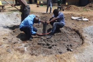The Water Project: Mukambi Baptist Primary School -  Well Construction