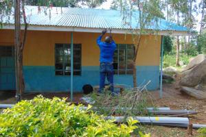 The Water Project: Kapsogoro Primary School -  Guttering