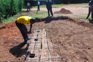 The Water Project: Kapsogoro Primary School -  Foundation For Vip Latrines