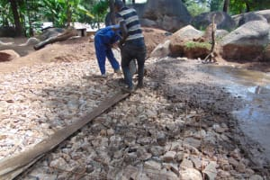 The Water Project: Kapsogoro Primary School -  Concrete Placement