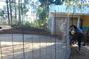 The Water Project: Kapsogoro Primary School -  Wrie Wall Setting