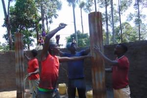 The Water Project: Kapsogoro Primary School -  Pillar Setting