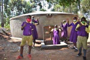 The Water Project: Kapsogoro Primary School -  Children Celebrating
