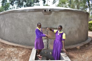 The Water Project: Kapsogoro Primary School -  Children Playing With Water