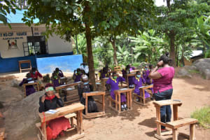 The Water Project: Kapsogoro Primary School -  Demonstration On Mask Wearing
