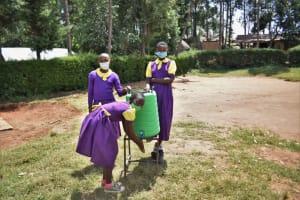 The Water Project: Kapsogoro Primary School -  Girls Handwashing