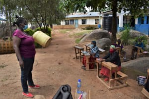 The Water Project: Kapsogoro Primary School -  Importance Of Washing Storage Containers