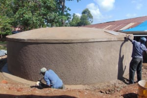 The Water Project: Jivuye Primary School -  Casting The Outer Wall