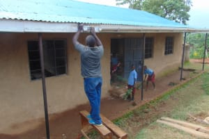 The Water Project: Jivuye Primary School -  Mounting The Gutters