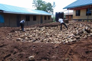 The Water Project: Jivuye Primary School -  Hardcore Filling