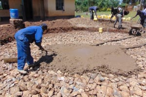 The Water Project: Jivuye Primary School -  Laying The Concrete Foundation