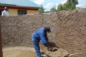The Water Project: Jivuye Primary School -  Inside Plastering