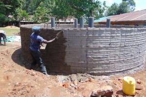 The Water Project: Jivuye Primary School -  Outside Plaster Work