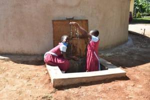 The Water Project: Jivuye Primary School -  Children Celebrating