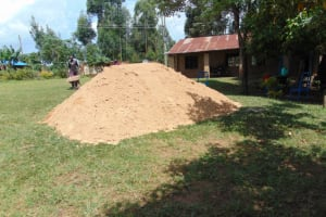 The Water Project: Jivuye Primary School -  Construction Material Sand