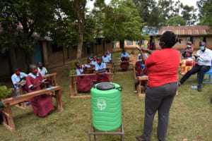 The Water Project: Jivuye Primary School -  Demonstration On Handwashing