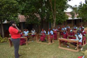The Water Project: Jivuye Primary School -  Mask Wearing Demonstration