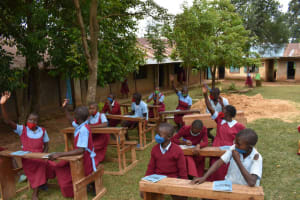The Water Project: Jivuye Primary School -  Participants Answer Questions