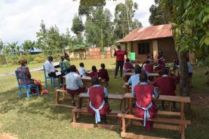 The Water Project: Jivuye Primary School -  Participants Listening