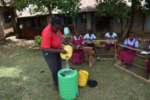 The Water Project: Jivuye Primary School -  Preparing Handwashing Facility