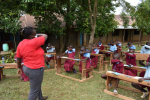 The Water Project: Jivuye Primary School -  Safe Cough And Sneeze
