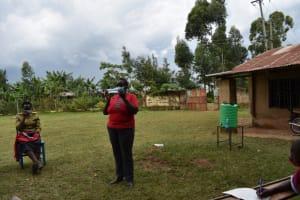 The Water Project: Jivuye Primary School -  Solar Water Treatment Demonstration