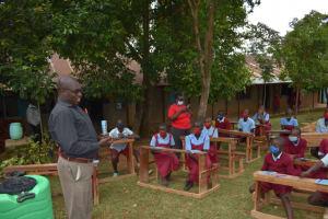 The Water Project: Jivuye Primary School -  Teachers Giving Thanks