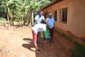 The Water Project: Jivuye Primary School -  Children Handwashing