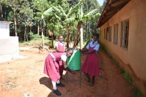 The Water Project: Jivuye Primary School -  Girls Handwashing