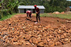 The Water Project: Bahati ADC Primary School -  Foundation Rock