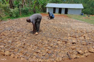 The Water Project: Bahati ADC Primary School -  Foundation With Wire