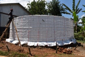 The Water Project: Bahati ADC Primary School -  Wall Set Up