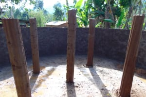 The Water Project: Bahati ADC Primary School -  Pillar Setting